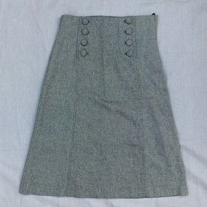 High waist, sailor button detail skirt
